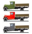 retro lorry isolated vector image