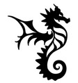 seahorse tattoo marine life icon vector image