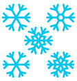 Snowflake - Snowflakes Set Isolated on White vector image