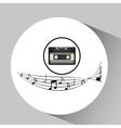music cassette vintage background desgin vector image
