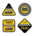 Taxi - set four labels vector image vector image