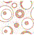 Seamless abstract pattern with circles and chaotic vector image