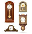 clock old retro set icon stock vector image vector image