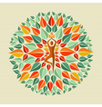 India yoga mandala vector image
