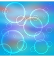 Blue abstract bokeh background vector image