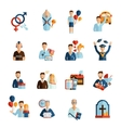 Life Stages Icons Set vector image