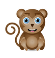 cute monkey character vector image vector image