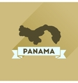 Flat icon with long shadow Panama map vector image