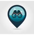 Binoculars pin map icon Summer vector image