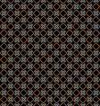 Checkered black seamless pattern with rhombus and vector image