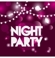 Advertising icon Night Party and Disco vector image