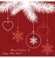 abstract christmas decoration vector image
