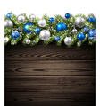 Card with fir branch vector image