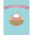 Easter posterEaster basket with eggs and vector image