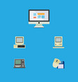 flat icon laptop set of display technology vector image