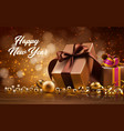 happy new year card with gift boxes vector image