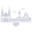 la plata city skyline vector image