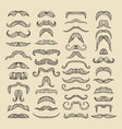 mustache of men hand drawn pictures with funny vector image