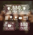 set of barbecue labels and banners vector image