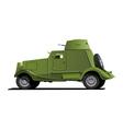 vintage armored car vector image
