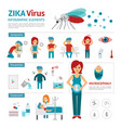 zika virus infographic elements flat vector image