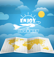 Vacation concept Injoy a journey vector image vector image