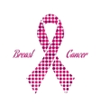 Pink ribbon vector image