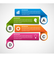 Abstract options infographics template Design vector image
