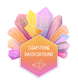 Hexagon frame with crystal composition vector image