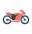 Transport flat Bike icon isolated on white vector image