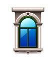 Vintage window with columns isolated vector image