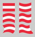 Austria flag Set of flags o Austrian Republic in vector image