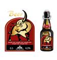 beer bottle label vector image