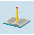 book and pencil design vector image