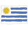 Flag of Uruguay handmade vector image