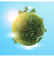 Green Earth Background vector image