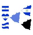 Nicaragua map vector image