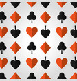 poker casino hazard design seamless pattern vector image
