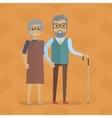Elderly Couple in Flat Design vector image