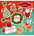 Christmas holiday sticker set for festive design vector image vector image