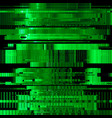 glitch green abstract background vector image