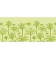 Green palm trees horizontal seamless pattern vector image