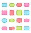 set of colorful frames vector image