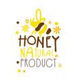 honey natural product logo colorful hand drawn vector image
