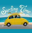 summer vacation surfing trip themed vector image vector image