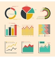 Business ratings graphs and charts vector image vector image