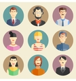 set of stylish handsome male characters vector image vector image