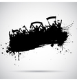 grunge football crowd vector image vector image