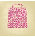pink christmas bag with golden snowflakes eps 8 vector image vector image
