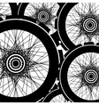 road and mountain bike wheels and tires vector image vector image